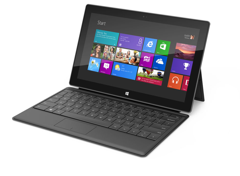 Microsoft Surface tablet black