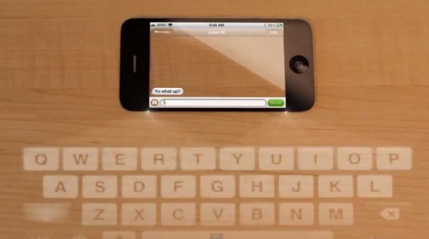 iphone 5 concept laser keyboard