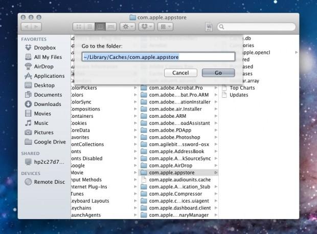 Fix Mac App Store Error 100 Step 2