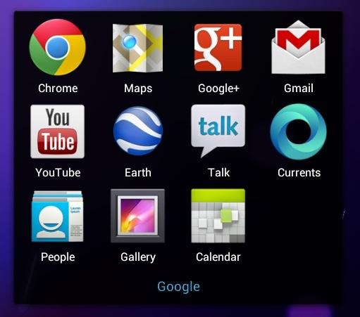 Nexus 7 Google integration