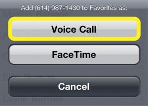 Voice or Facetime