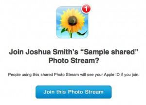 Shared Photo Stream IOS 6