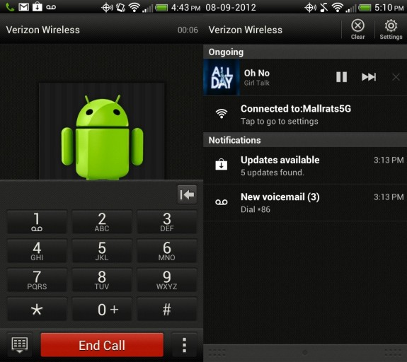 Droid incredible 4G LTE Call quality and audio