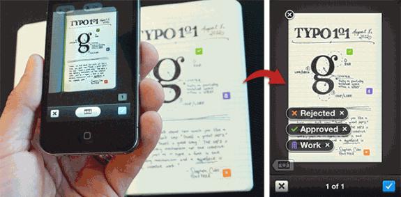Evernote iPhone app Evernote Moleskin