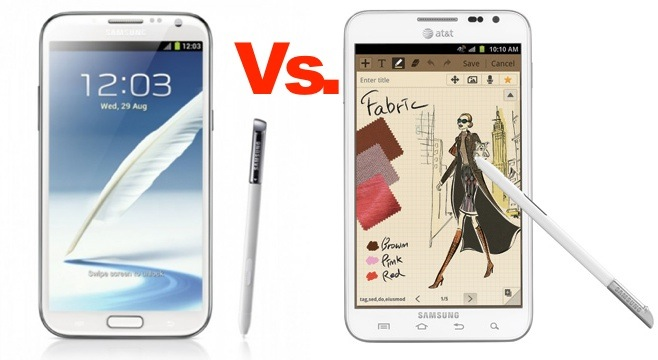 Galaxy Note 2 vs. Galaxy Note