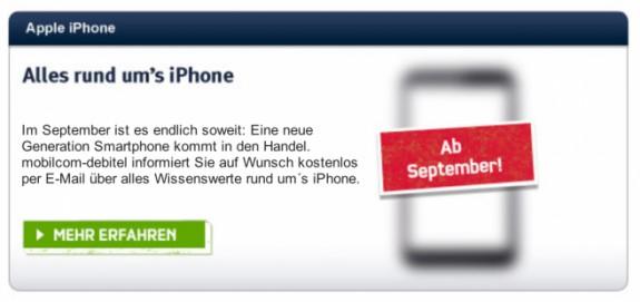 Mobilcom Debitel iPhone 5 teaser