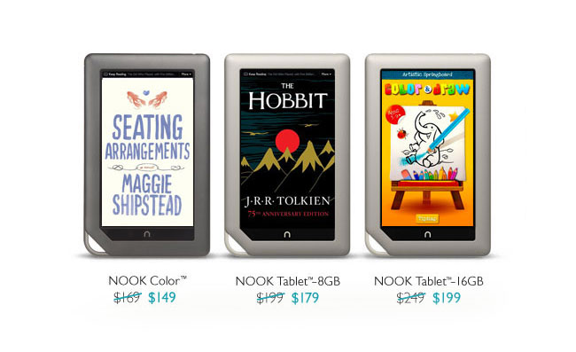 Nook Tablet price cuts
