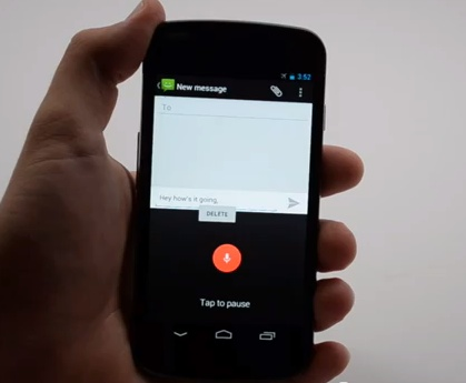 Offline Voice Dictation Jelly BEan