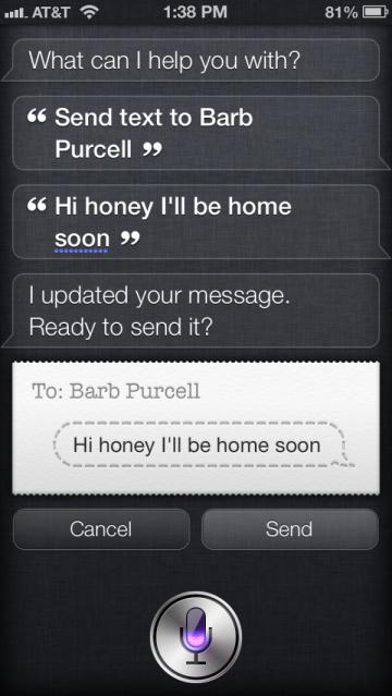 Siri on the iPhone 5