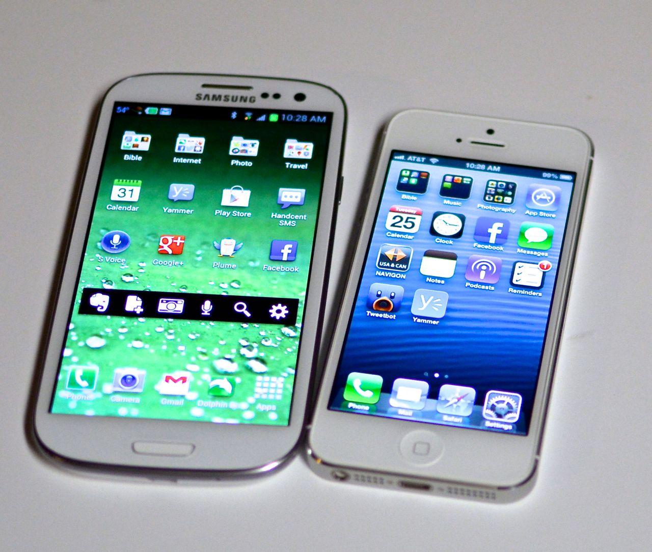 samsung galaxy s iii and apple iphone 5