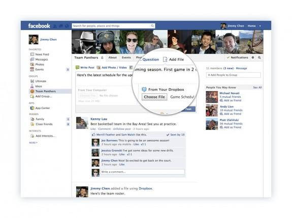 Facebook Dropbox partnership