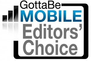 GottaBeMobile editors choice award