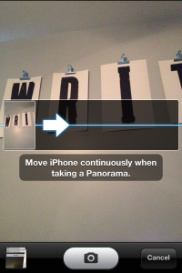 How to Panorama iOS 6