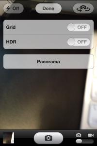 How to iPhone panorama