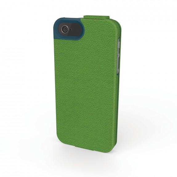 Portafolio Flip Wallet iPhone 5 Green_Blue Nappa Back