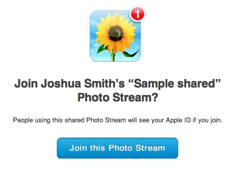 Shared PhotoStream