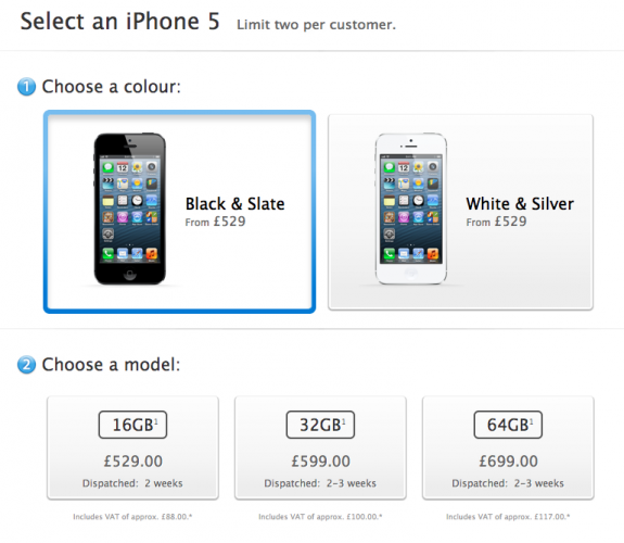 UK iPhone 5 Pre-orders sold out