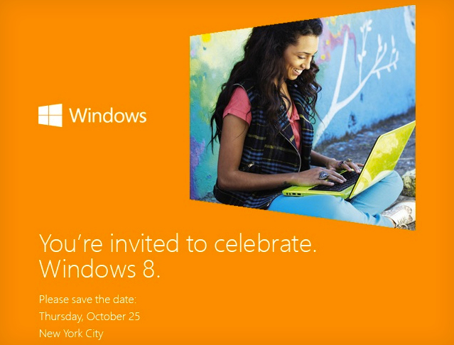 Windows 8 October 25 launch