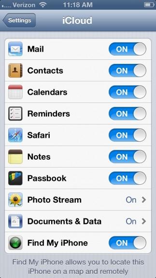 iCloud iPhone 5 Setup