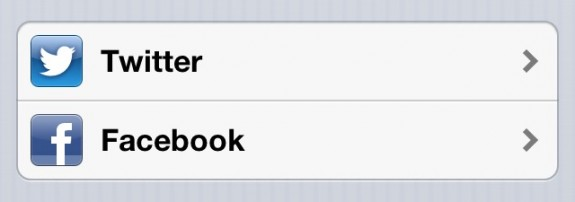 iPhone 5 Setup - Twitter and Facebook