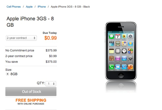 iPhone3GS out of Stock - iPhone 5