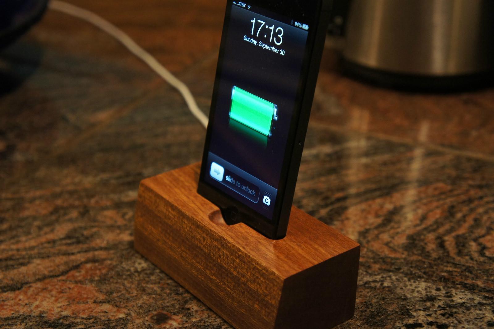 iPHone 5 wood dock on eBay