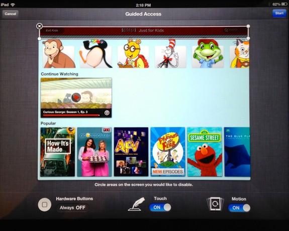 iPad kid Mode - Netflix for Kids