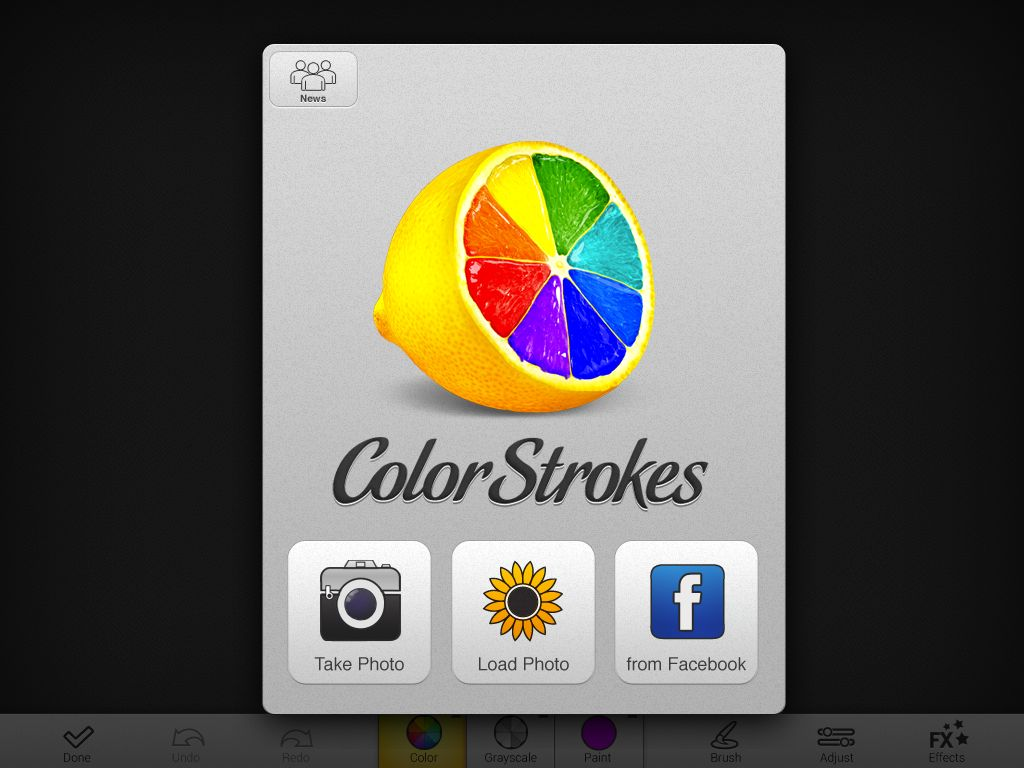 color strokes HD import screen
