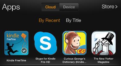 Kindle Freetime app