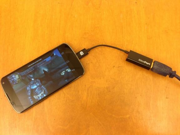 Nexus 4 Slimport HDMI Adapter Review - 5