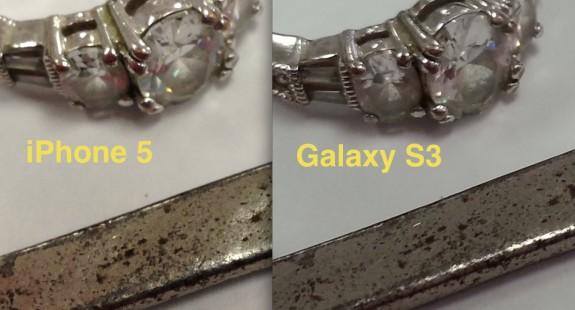 iPhone 5 v Galaxy S3 Macro comparison