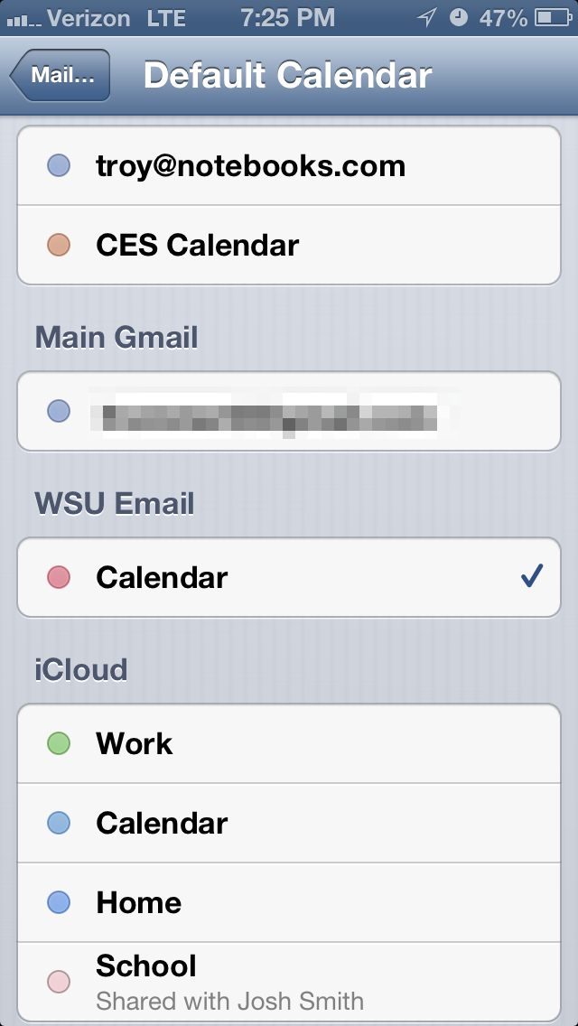 default calendar iphone how to set the default calendar on your iphone 10487