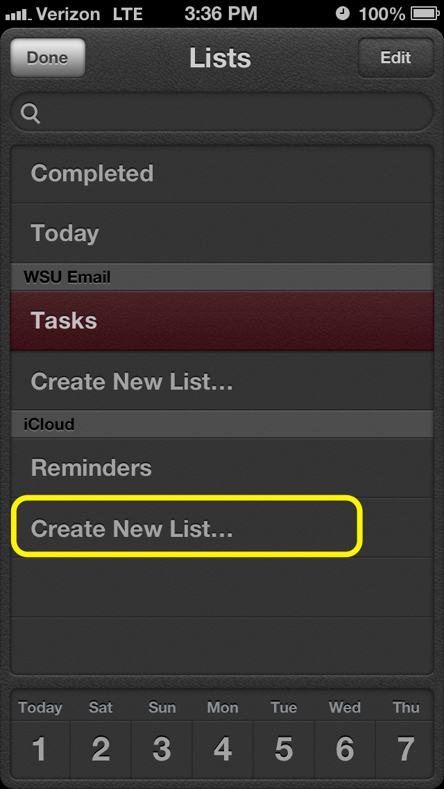 Create New List