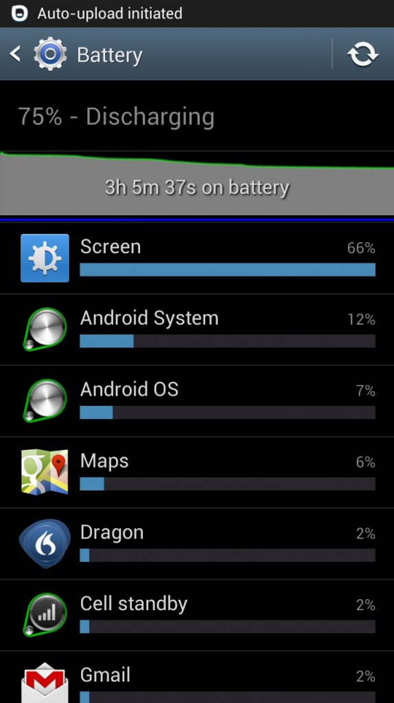 gs3 battery life settings