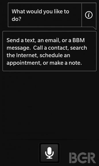 blackberry 10 voice control