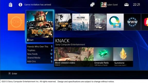 PlayStation 4 UI