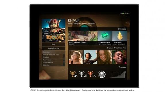 PlayStation App tablet screenshot