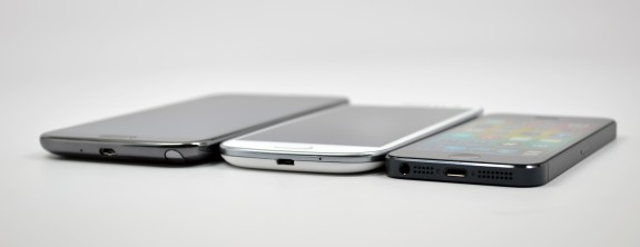 Samsung Galaxy Note 2 vs Galaxy S3 vs iPhone 5 - 3