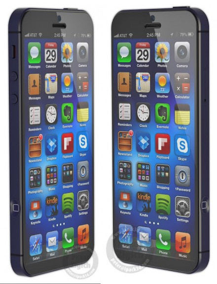 An iPhone 6 concept shows a large riPhone 6 display, without a larger iPhone.