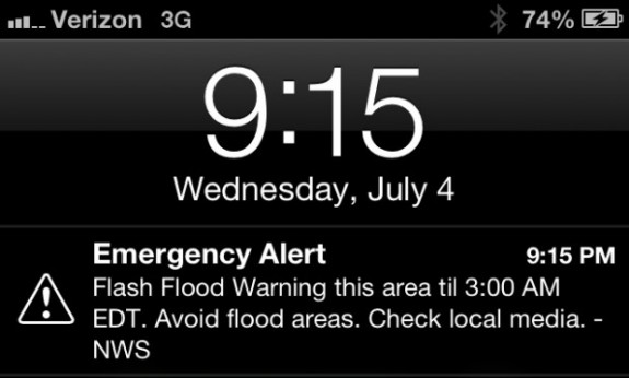 iPhone Emergency Alert AT&T
