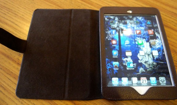mapicases soli leather ipad mini open