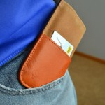 The DODOcase Durables Samsung Galaxy S3 wallet slides into a pocket easily.