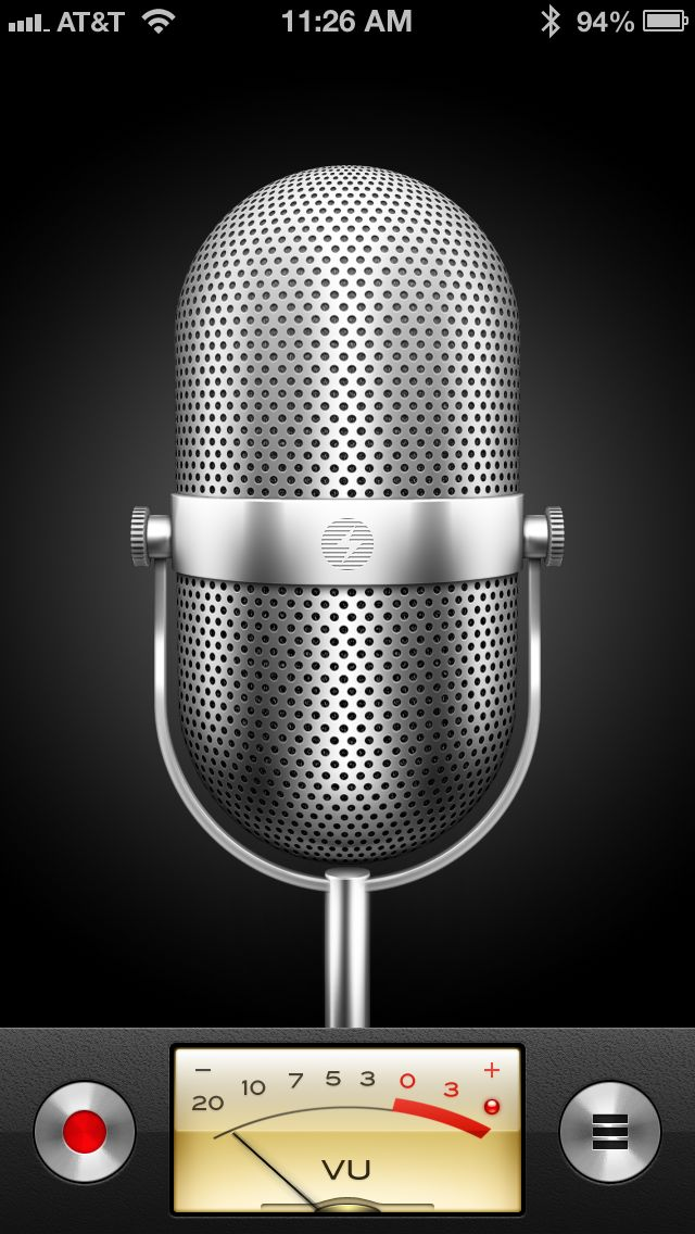 iphone voice memo app