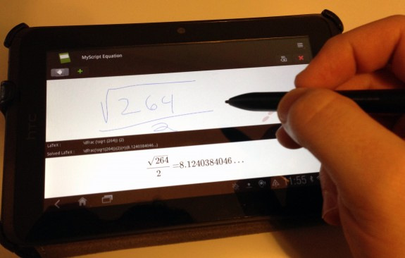 Use the DuoSense Pen 2 to draw and solve equations.