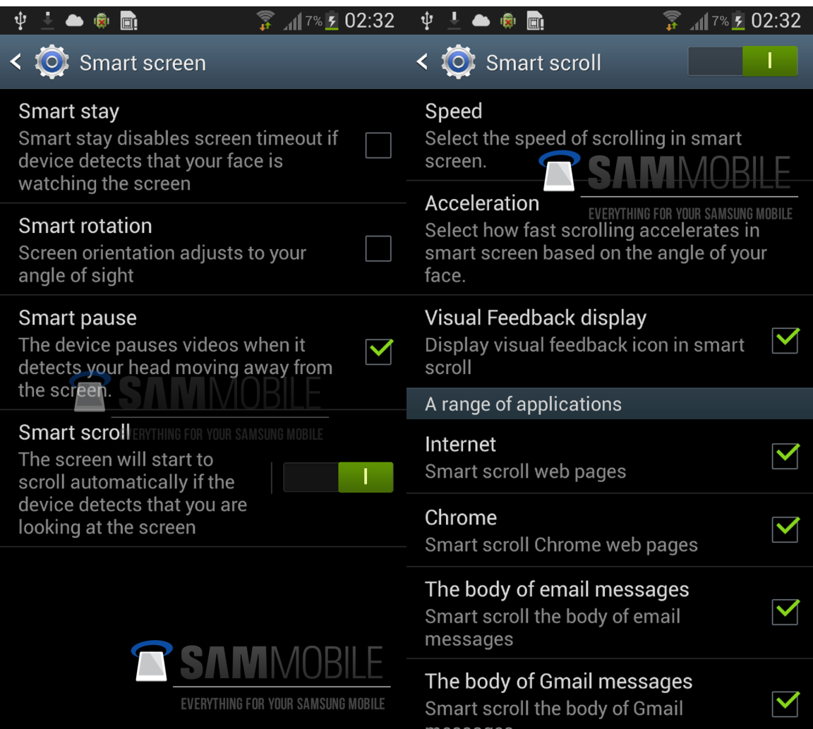 Claimed Samsung Galaxy S3 Android 4.2 update screenshots show off Smart scroll and Smart pause features we expect on the Samsung GalaxY S4.