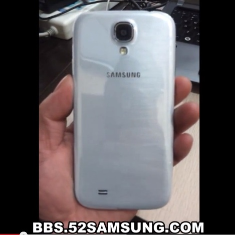 The back of the alleged Samsung Galaxy S4 in the video looks more plausible than those in photos from earlier this week.