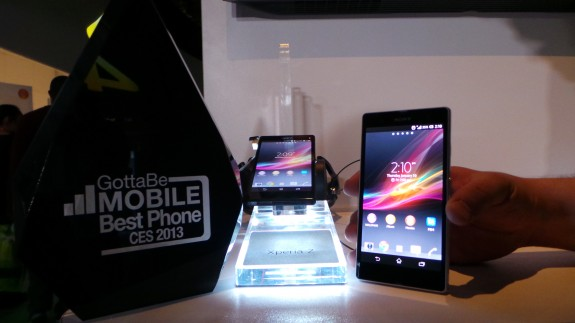 The Sony Xperia Z won our best smartphone of CES 2013 award.