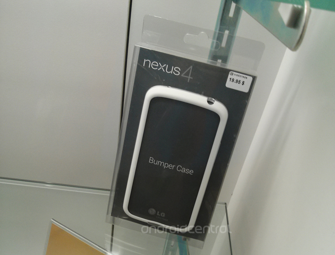 A white Nexus 4 bumper is on sale in Canada.