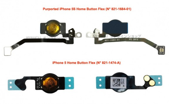 A claimed iPhone 5S home button part leaks ahead of the release.