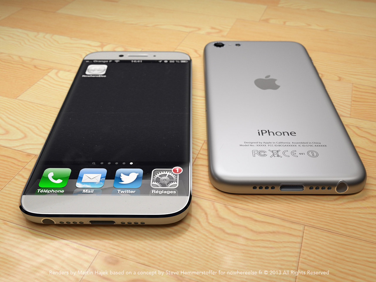 Another shot of the iPhone 6 concept.